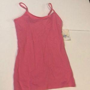 NWT So camisole with shelf bra juniors Xs pink